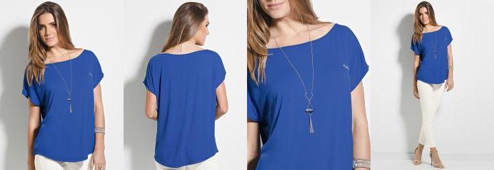 Blusa Colcci Azul com Bordado