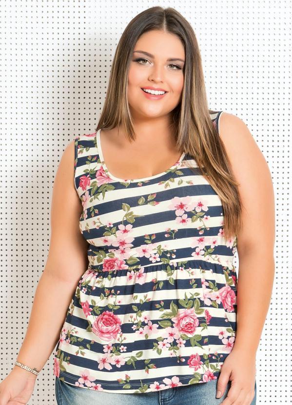 Blusa Peplum (Floral e Listrada)