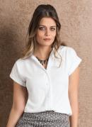 Camisa Feminina Branca Manga Curta