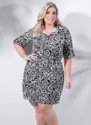Vestido Estampa Espirais Plus Size