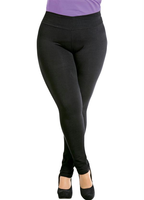349dbc21b Marguerite - Calça Legging Preta Plus Size - Marguerite