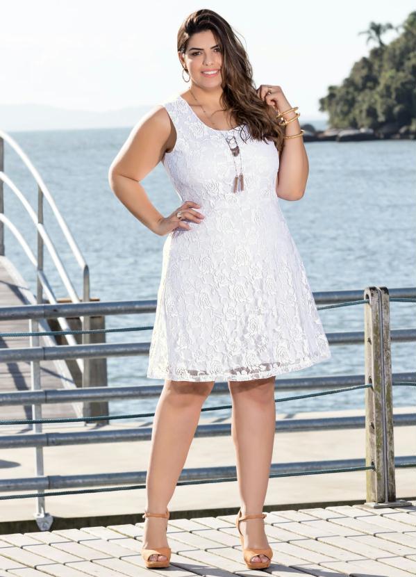 Imagens vestidos de renda branco