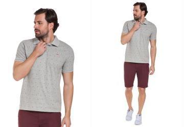 Camisa Polo Gravataria Malha Cinza Hangar 33