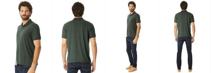 Camisa Polo Gravataria Malha Verde Hangar 33