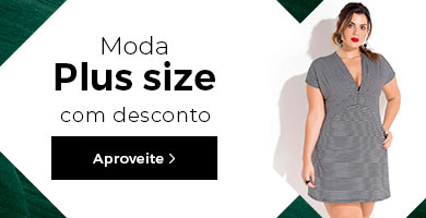 Moda plus size em oferta